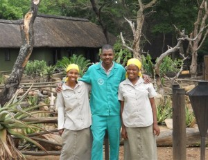 forest camp grounds men and housekeepers