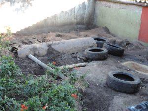 tyres and poles demolished